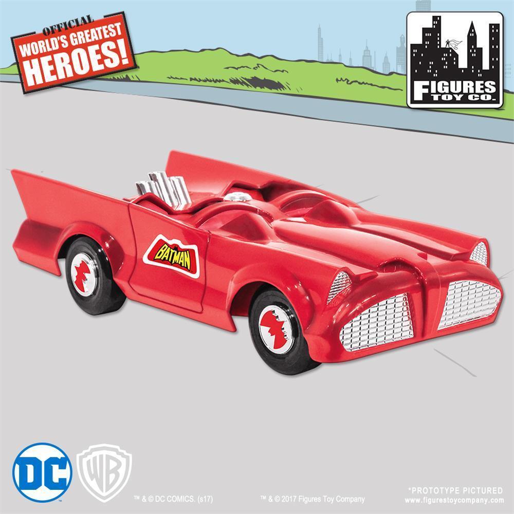 Nuevo Retro Batman y Robin DC Comics Batimóvil Jugarset Sealed Mib Rojo