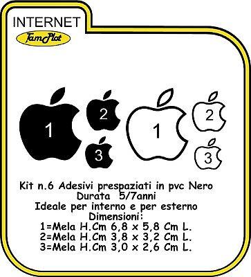 Adesivo Apple Con Logo Mela Per Auto Moto Ape Cover Iphone Stickers
