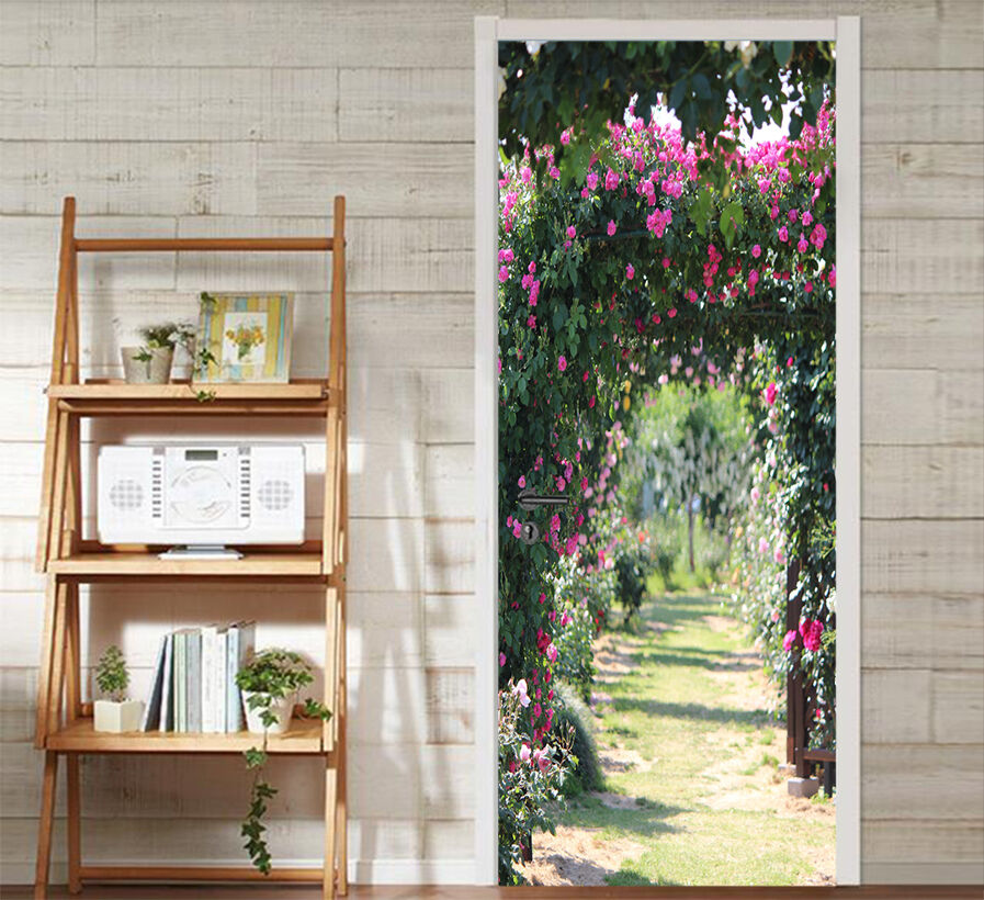 3D Blumen Bogen 401 Tür Mauer Wandgemälde Foto Wandaufkleber AJ WALL DE Lemon