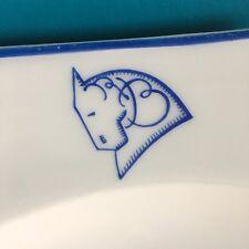 René Buthaud / partie de service porcelaine décorée Monogramme et tête de cheval