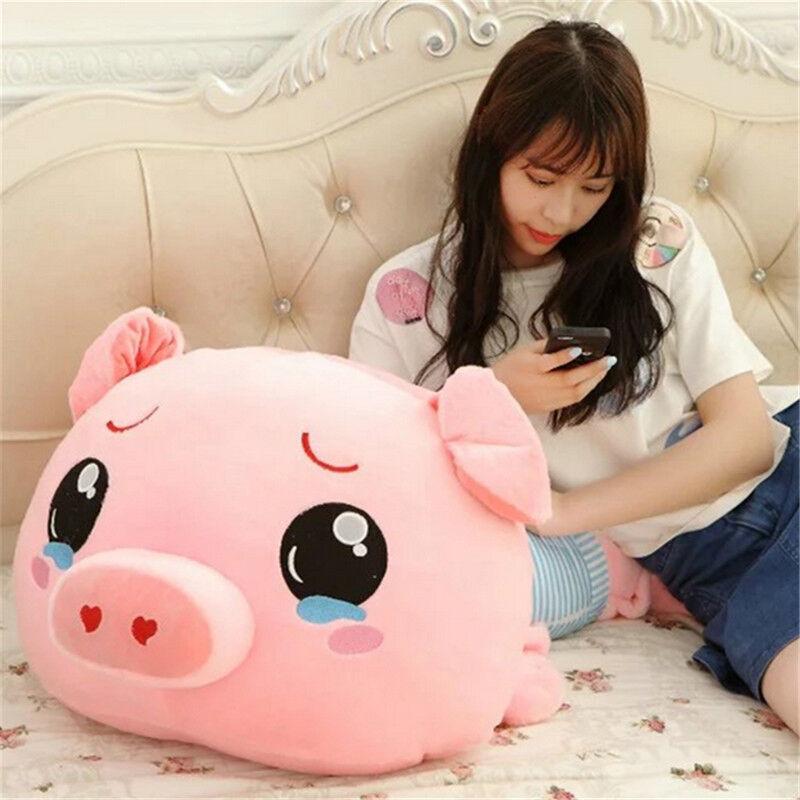 39'' Giant big hung blu shirt pig Plush Soft Stuffed animal  Toys doll pillow