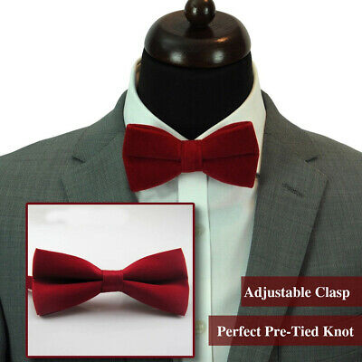 Wine Red Classic Bow Tie Formal Adjustable Suit Party Wedding Prom Gent Tuxedo