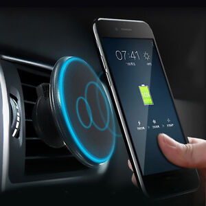 Magnetic car phone holder wireless charger