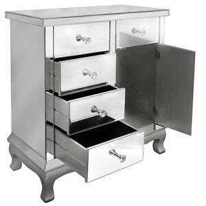 Vintage Mirrored Sideboard Cabinet Venetian Furniture