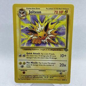 Jolteon 20/64 Jungle Set Non-Holo Rare WOTC Unlimited Pokemon Card NM G27