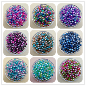 6 Hot 4 8//10mm Acrylic Round Pearl Spacer Loose Beads Jewelry Making DIY JND
