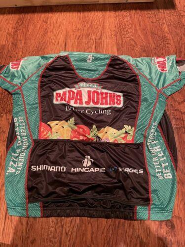 Details about  /Hincapie /& SantiniMens//Kids Cycling Jersey Papa Johns