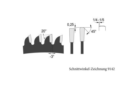 HM//Widia Kreissägeblatt für Alu 180 x 20 Z 48  blueline by AKE negativ