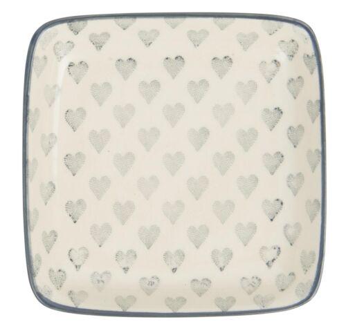IB Laursen Assiette Coeur crème blanc gris cœur soucoupe cœur Plateau