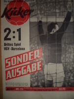 KICKER 17a - 27.4. 1961 Sonderausgabe EC Hamburger SV - FC Barcelona 2:1