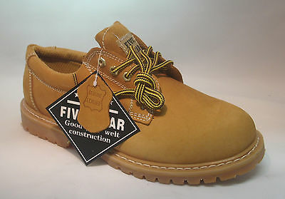 """New Mens Leather Oxford Shoes 4"""" Tan Slip\ Oil Resistant Oxford Work Boots Sizes"""