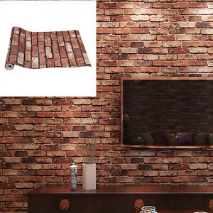 10M Red brick white brick Wallpaper Brick Pattern Self-adhesive Sticker