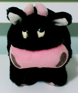 GC-Tooth-Mousse-Black-Cow-Plush-Toy-Mascot-12cm-Tall-x-14cm-Long