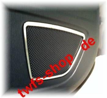 D Ford Fiesta JA8 08- Chrom Rahmen für Lautsprecher hinten G - Edelstahl poliert