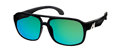 FREE Mako Hat Mako GT ROSE Glass Green Mirror Sunglasses Polarised 9583 G2H5