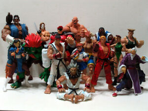 7-034-N-Street-Fighter-Player-Select-Game-Survival-Ken-Ryu-Guile-Action-Figure