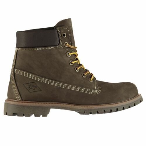 Lee Cooper 6in Youngster Boys Rugged Boots Lace Up