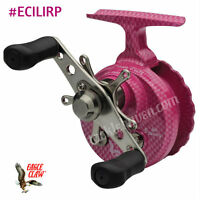 Eagle Claw Inline Pink Ice Fishing Reel Clam Pack Ecilirp
