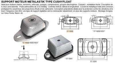 SUPPORT MOTEUR METALASTIK TYPE CUSHYFLOAT 17-1609-75 315 KG