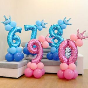 1-Set-Crown-Number-Foil-Balloons-Wedding-Birthday-Party-Decorations-uk-Popular