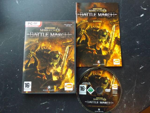 Warhammer Battle March Expansion PC DVD-Stratégie exige Mark of Chaos pour jouer