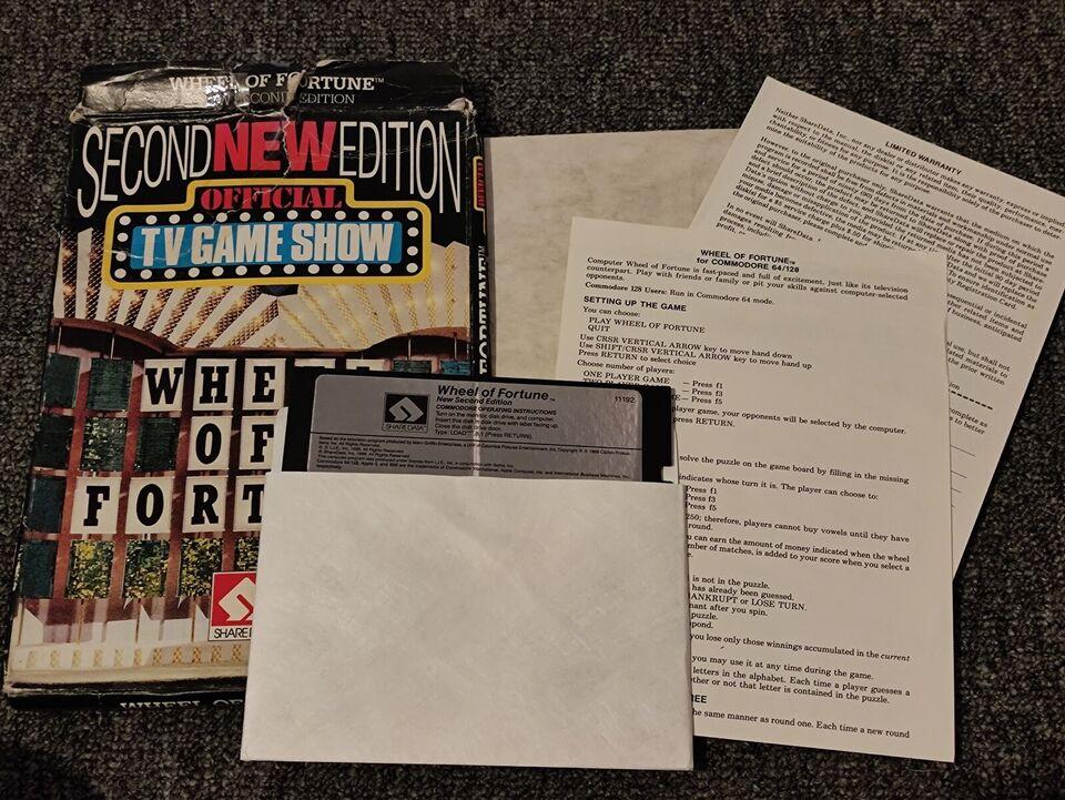 DISK Wheel of fortune, Commodore 64