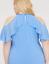 Lane-Bryant-Solid-Ruffled-Turquoise-halter-Top-PLUS-Size-14-16-18-20-22-24-26-28 thumbnail 3
