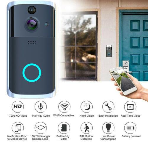 Wireless WiFi Smart DoorBell Video Phone Door Visual Ring Intercom Secure Cam DD