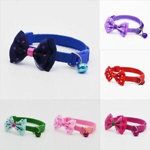 Pet-Bowknot-Necktie-Collar-Cute-Bow-Tie-Bell-Kitten-Puppy-Adjustable-Dog-Cat