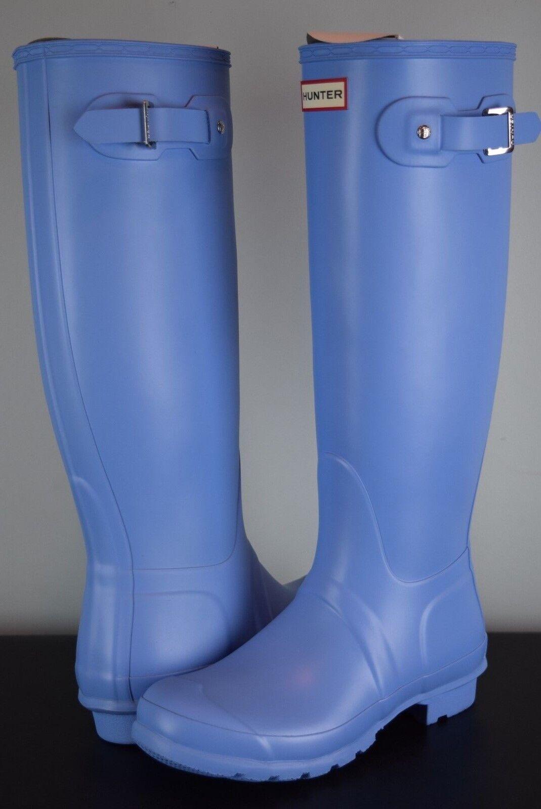 Nuevo En En En Caja  para mujeres botas Hunter Original Tall Forget Me Not Sz 8 US Azul De Goma 3ef175