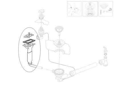 und Überlaufgarnitur für die FRANKE Einbauspüle MILAN MIG 614 GM und MIG 684 Ab