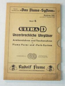 Aufrichtig Das Flume System Nachtrag 1961 Ultra D Katalog 1955 Band 6 Uhrgläser B-11116 Online Shop