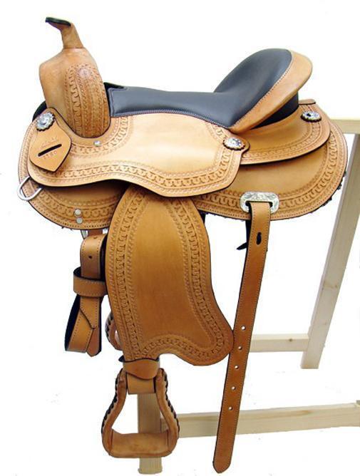 Treeless Western Saddle Omaha, Beige, Full Quarter, New, Leather