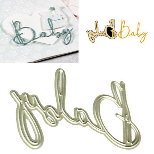 Baby Alphabet Metall Stanzformen Schablone für DIY Scrapbooking Paper Card De ZR
