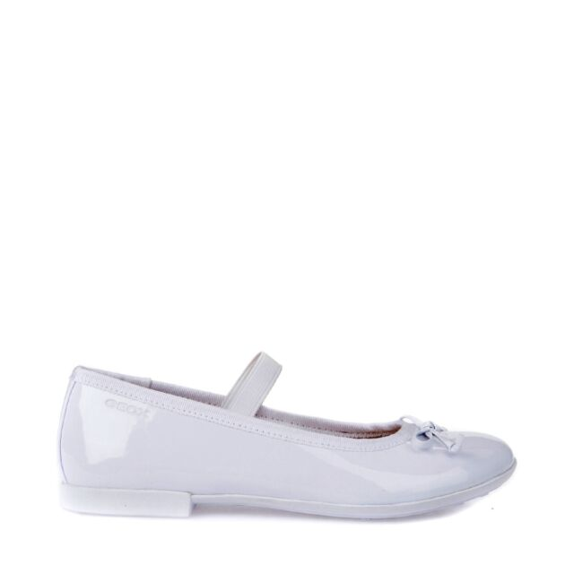 Geox Plie /'J5455i Girl/'s Shoes Woman Ballet Flats Polished Loafers Leather White