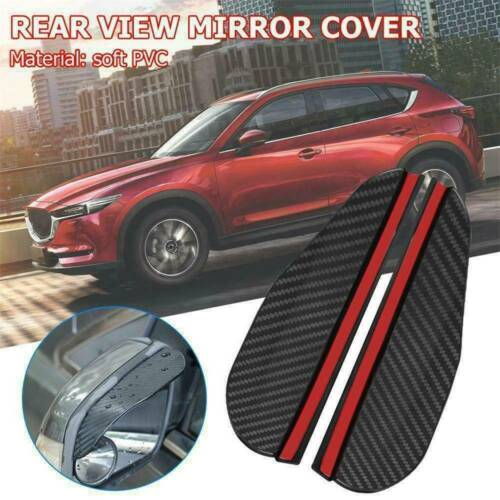2PCS Car Rear View Side Mirror Rain Board Eyebrow Guard Sun Visor Accessory Kit