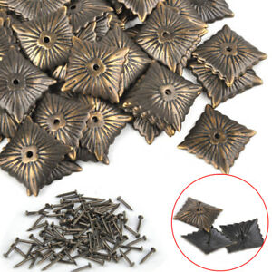 Details About 100x Bronze Vintage Square Upholstery Nails Studs Furniture Decorative Tacks