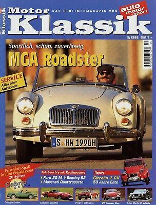 Motor Klassik 5/98 1998 Giulia Sprint Gt Bentley S2 Ford 20 M P5 Kleinschnittger Zeitschriften