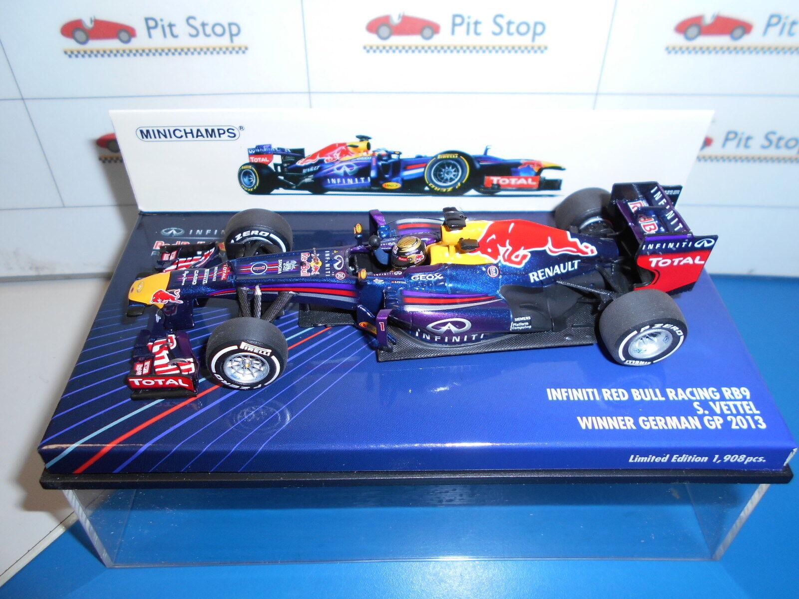 MIN410130101 INFINITI rouge BULL RACING RB9 VETTEL WINNER GERMAN GP 2013 1 43