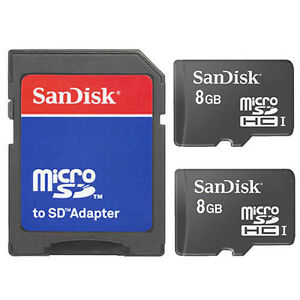 2-Pack-SanDisk-Class-4-8GB-16GB-MicroSD-SDHC-TF-Flash-Memory-Card-W-SD-Adapter