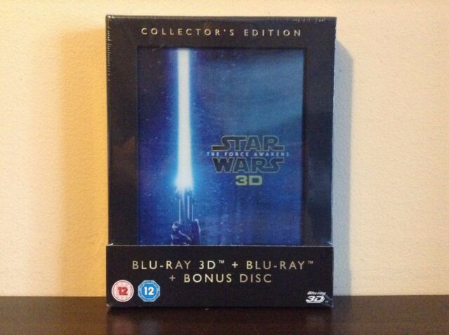Star Wars: The Force Awakens Collector's Edition [Blu-ray 3D + Blu-ray] *NEW*