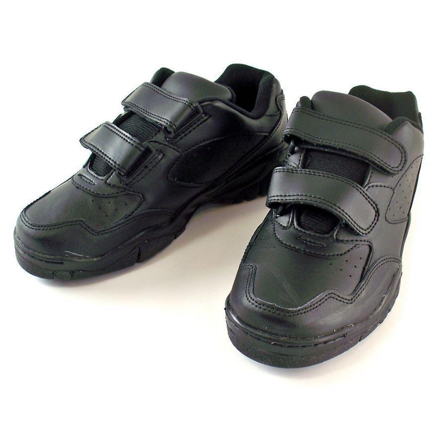 Lote de 20 Zapato De Cuero Negro Caminar Cross Trainer Para Hombres para mujer de 15.5 D