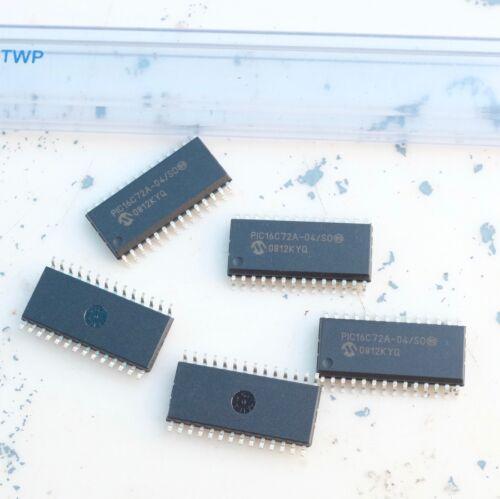 Microchip PIC16C72A-04//SO Circuit intégré Microcontrôleur lot de 5 pièces