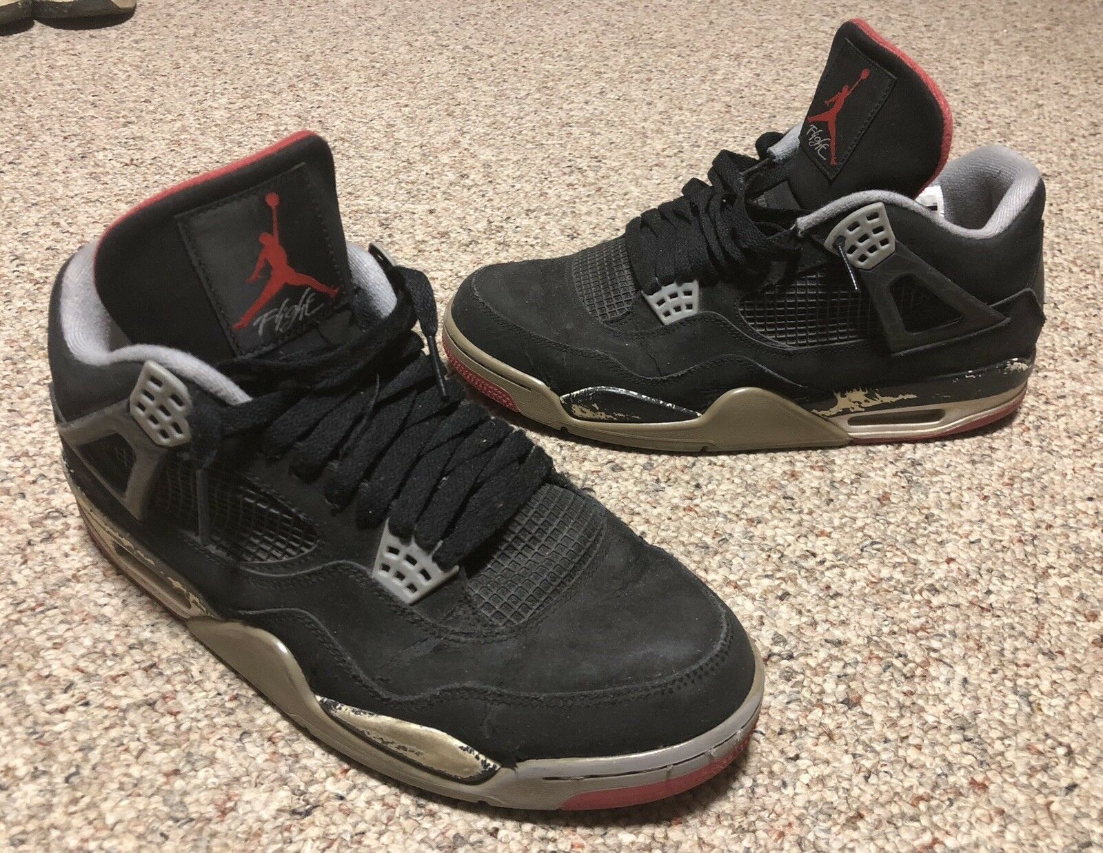 Air Jordan IV 4 Retro Bred Edition 308497-089 Size 11.5 Used Trashed Beaters