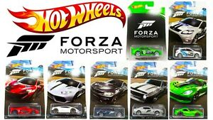 HOT-WHEELS-xbox-FORZA-MOTORSPORT-Diecast-COLLEZIONE-AUTOMOBILI-SCALA-DWF30-Set-1-64