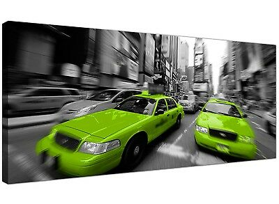 Lime Green Large Canvas Wall Art of New York Times Square 1027