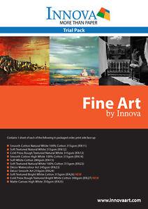 11-Sheet-Innova-Matte-Fine-Art-sample-pack-A4