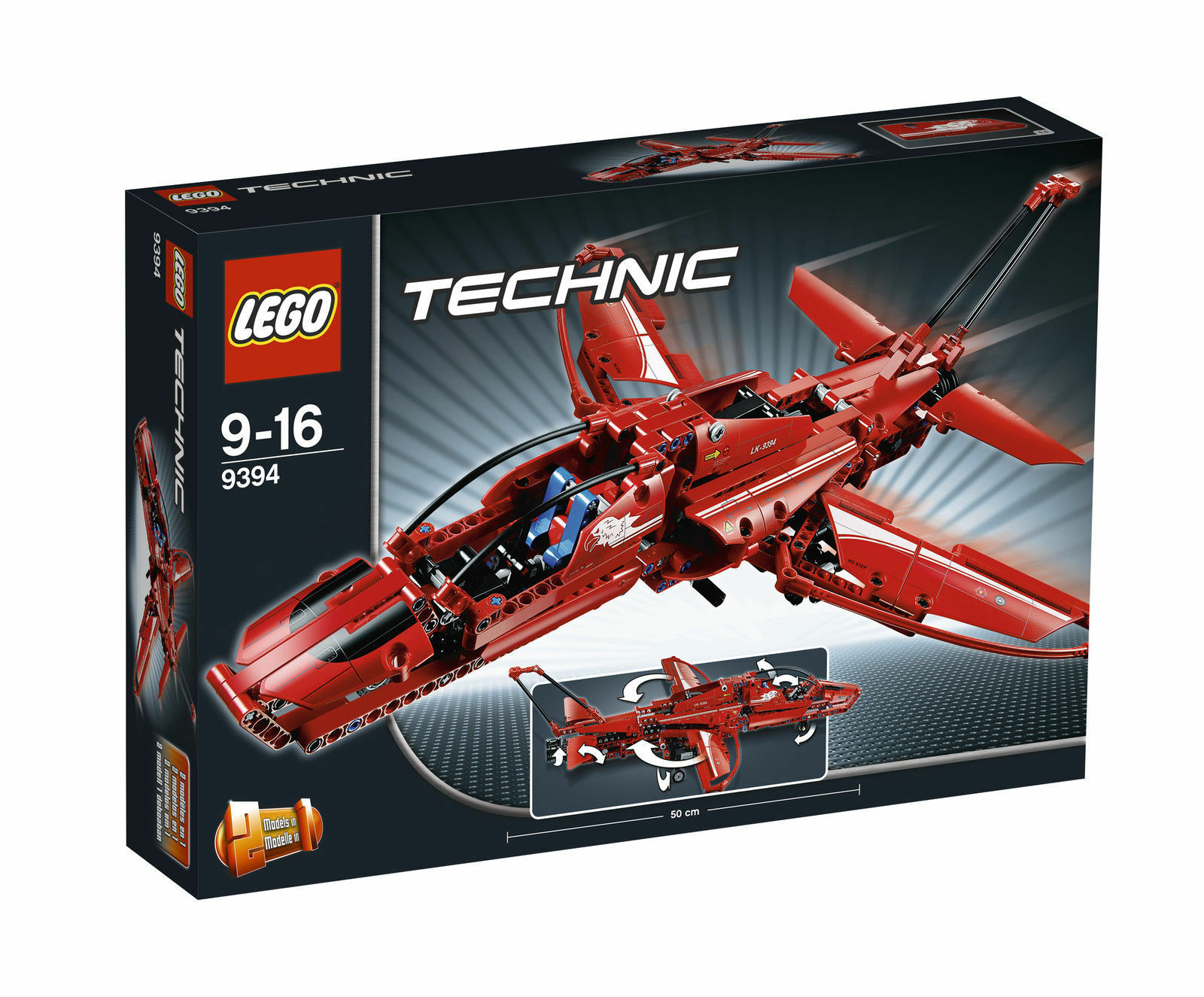 Lego 9394 technique avion à réaction