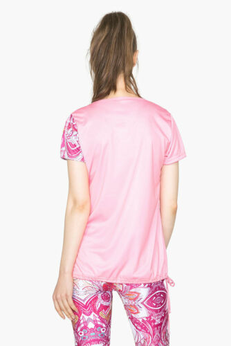 DESIGUAL Sport-Kollektion Shirt *TS/_A T-S LACES 2*  salmon rose