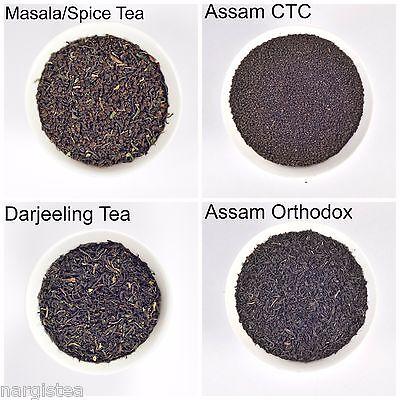 Assam Darjeeling Assorted Black Tea Sampler 4 Exotic Loose Leaf 40gm Fresh Chai